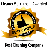 Best Restaurant Cleaning Company Winner Badge